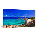 tropical beach panorama seascape photo canvas print PT6412