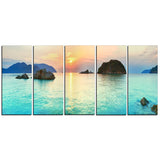 sunrise panorama photography canvas art print PT6413