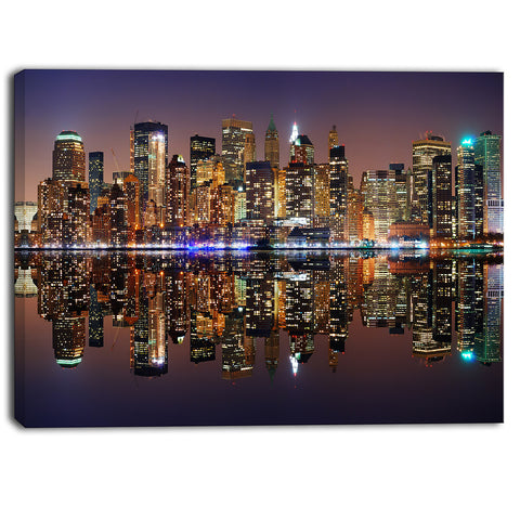 city of manhattan panorama cityscape photo canvas print PT6414