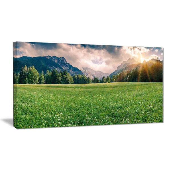 triglav mountain panorama landscape photo canvas print PT6416