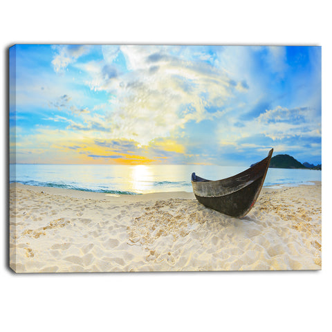 calm beach panorama photo canvas art print PT6417