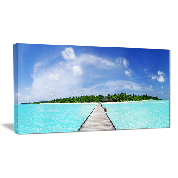 maldives panorama seascape photography canvas art print PT6421