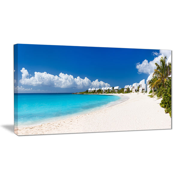 caribbean beach panorama landscape photo canvas art print PT6430