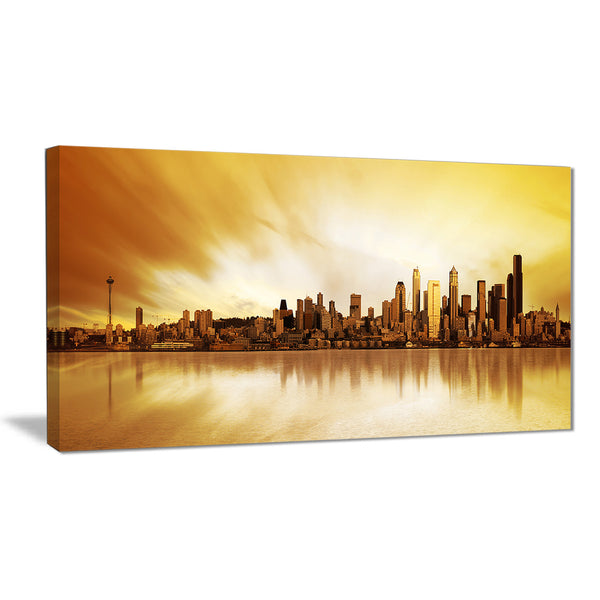 seattle panorama landscape photography canvas print PT6437
