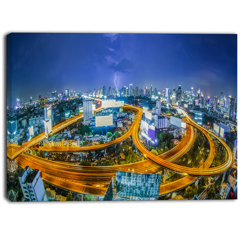 bangkok city cityscape photography canvas art print PT6449