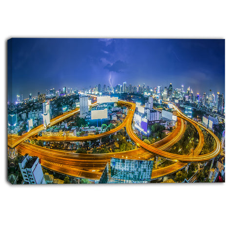 bangkok city cityscape photography canvas art print PT6450