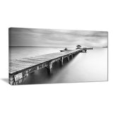 wooden sea bridge seascape photography canvas print PT6454