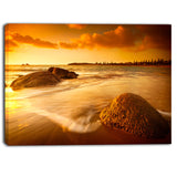 sun tinted beach photography canvas art print PT6458