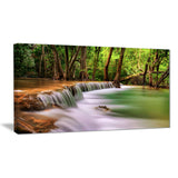 Secodn Level Erawan Waterfall Photography Canvas Print