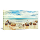 moeraki boulders landscape photography canvas art print PT6477