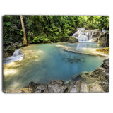 erawan waterfall top view photography canvas art print PT6483