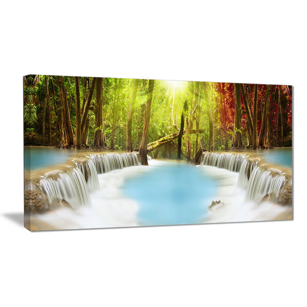 huai mae kamin waterfall photography canvas art print PT6486