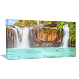 dry sap waterfall photography canvas art print PT6490