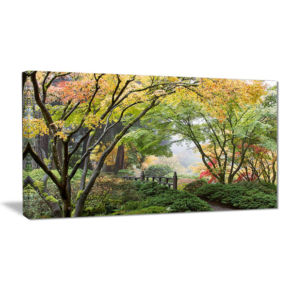 maple tree canopy by bridge photography canvas print PT6495