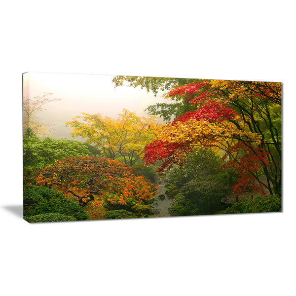 colorful maple trees floral photography canvas print PT6497