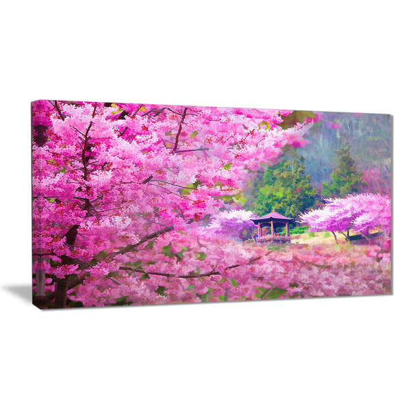 japanese cherry flowers floral canvas art print PT6500