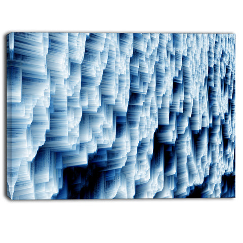 abstract blue ice photography canvas art print PT6502