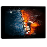 Saxophone Music Photography Canvas Art Print
