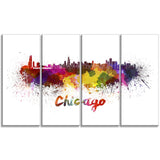 chicago skyline cityscape canvas art print PT6510