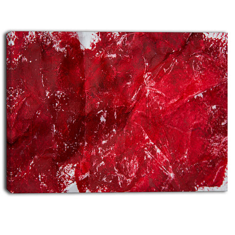 abstract red texture abstract canvas art print PT6514