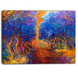 blue autumn forest landscape canvas art print PT6530