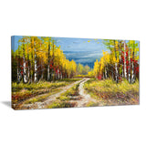 golden autumn landscape canvas art print PT6532
