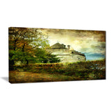 chillion castle landscape canvas art print PT6533
