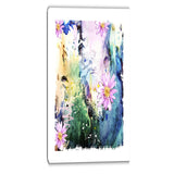 abstract blue pink floral art floral canvas art print PT6534