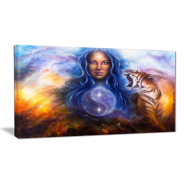 female goddess lada portrait canvas art print PT6537