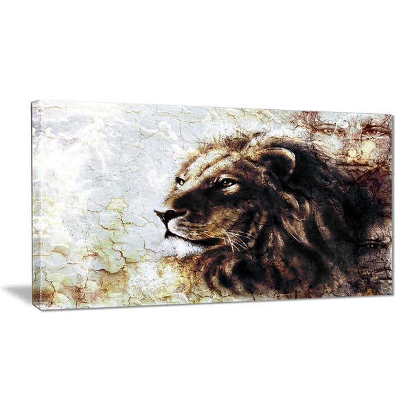 mystic face animal canvas artwork print PT6538