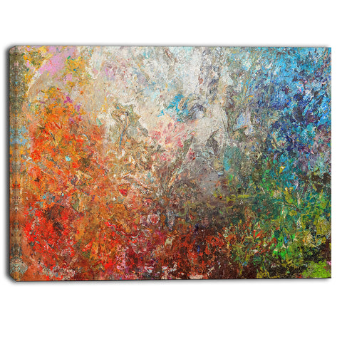 board stained abstract art abstract canvas art print PT6548