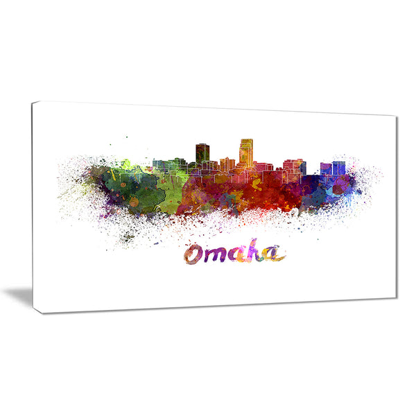 omaha skyline cityscape canvas art print PT6552
