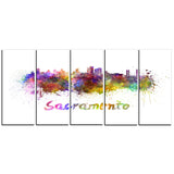 sacramento skyline cityscape canvas artwork print PT6558