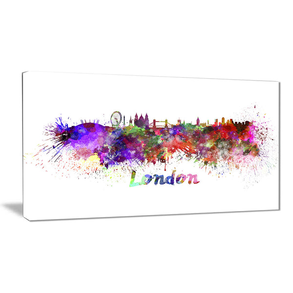 london skyline cityscape canvas artwork print PT6563