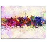 toronto skyline cityscape canvas artwork print PT6564