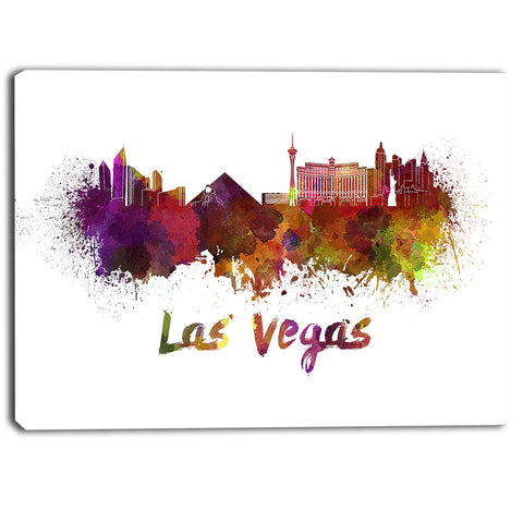 las vegas skyline cityscape canvas artwork print PT6566