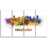 las vegas skyline cityscape canvas artwork print PT6567