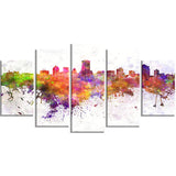 milwaukee skyline cityscape canvas artwork print PT6568