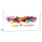 san francisco skyline cityscape canvas artwork print PT6569