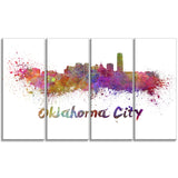 oklahoma skyline cityscape canvas artwork print PT6571