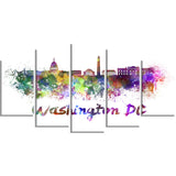 washington dc skyline cityscape canvas artwork print PT6572