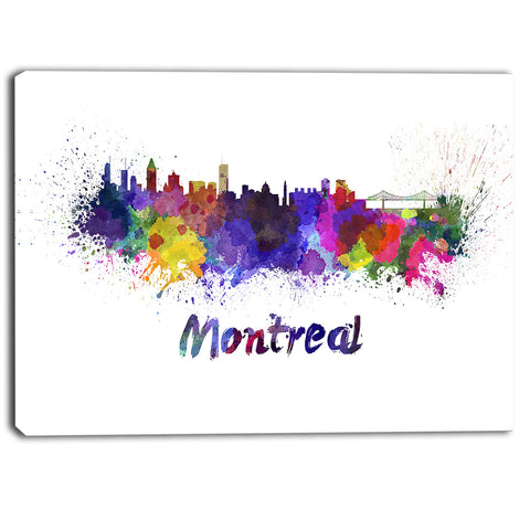 montreal skyline cityscape canvas artwork print PT6573