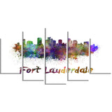 fort lauderdale skyline cityscape canvas artwork print PT6574