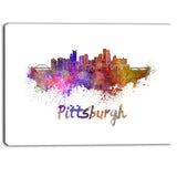 pittsburgh skyline cityscape canvas artwork print PT6575