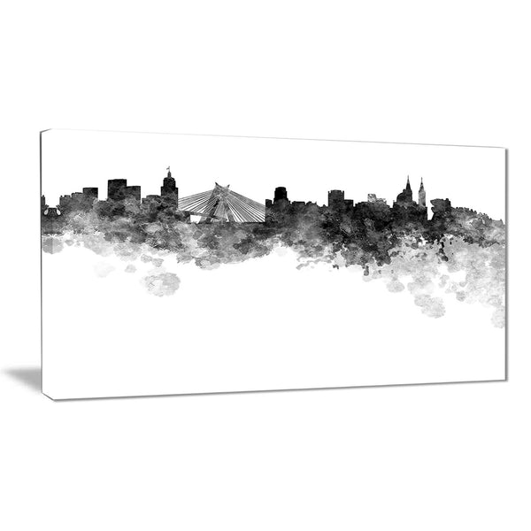 sao paulo skyline cityscape canvas artwork print PT6585