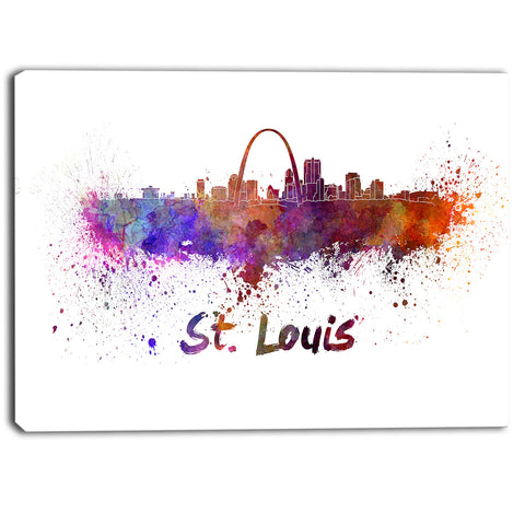 st louis skyline cityscape canvas artwork print PT6588
