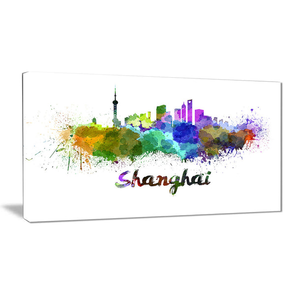 shanghai skyline cityscape canvas artwork print PT6590