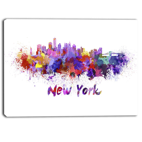 new york skyline cityscape canvas artwork print PT6592