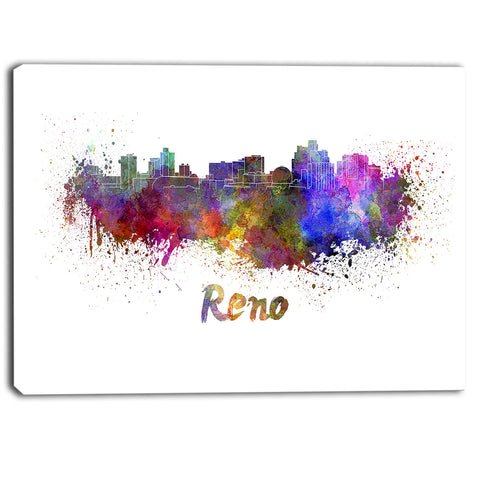 reno skyline cityscape canvas artwork print PT6594