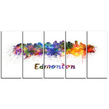 edmonton skyline cityscape canvas artwork print PT6598